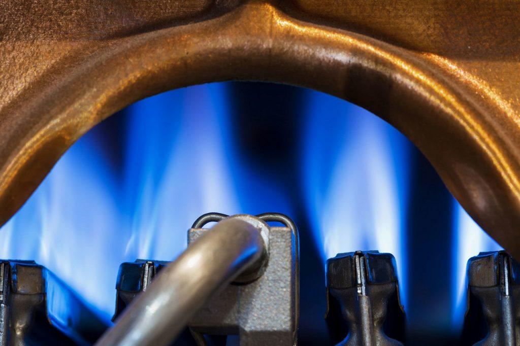 Природній газ, блакитне полум'я