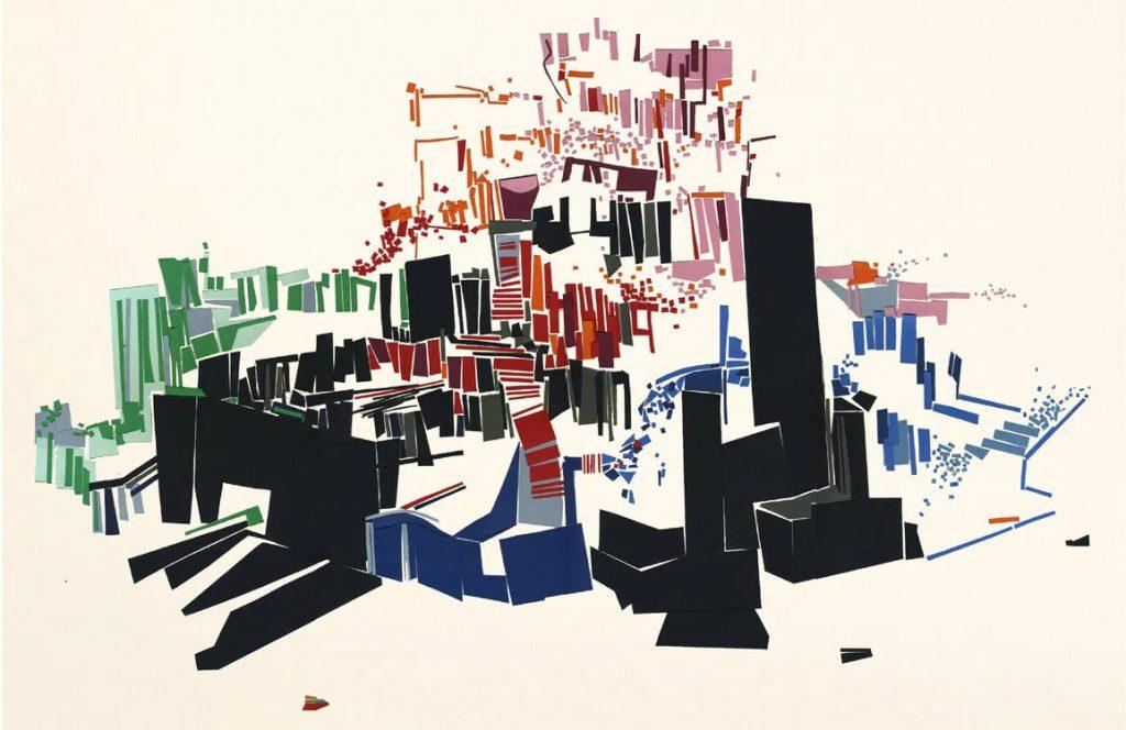 Місто, будинки. Абстрактний малюнок