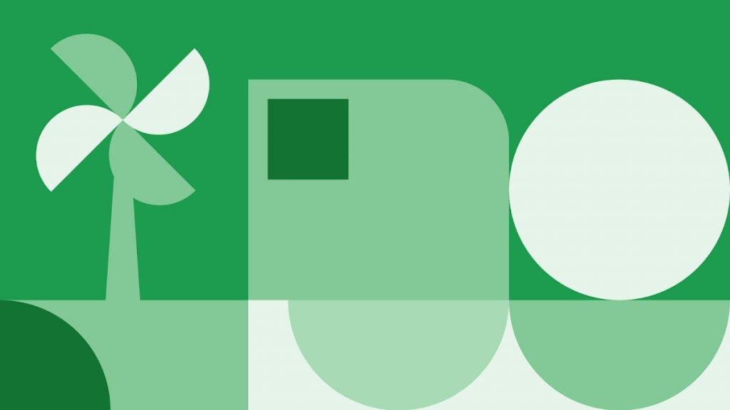 Енергозбереження. Ілюстрація в зелених кольорах